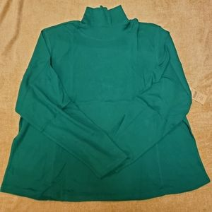 Coldwater Creek Green 100% Cotton 3X TNeck NWT.